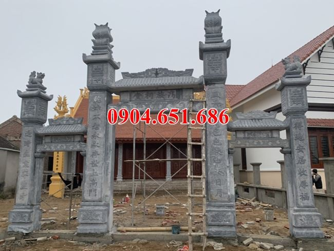 Địa chỉ thiết kế, thi công làm cổng nhà thờ họ bằng đá khối tự nhiên trên toàn quốc