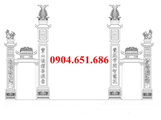 Hình ảnh mẫu thiết kế cổng đá nhà thờ họ hiên đại đẹp