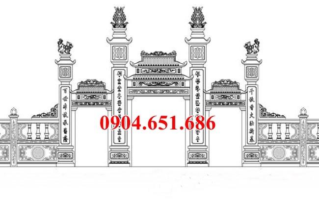 Hình ảnh mẫu thiết kế cổng nhà thờ họ tam quan đẹp chuẩn phong thủy