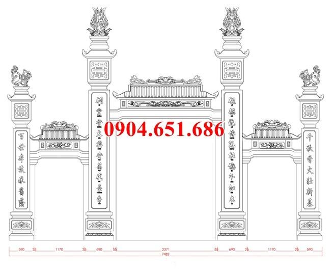 Kích thước cổng tam quan nhà thờ họ - Kích thước cổng đá đẹp