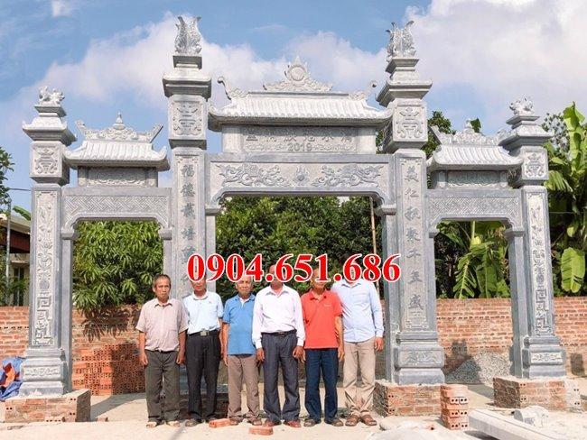 Mẫu cổng đá đình, chùa, nhà thờ tổ, nhà từ đường đẹp