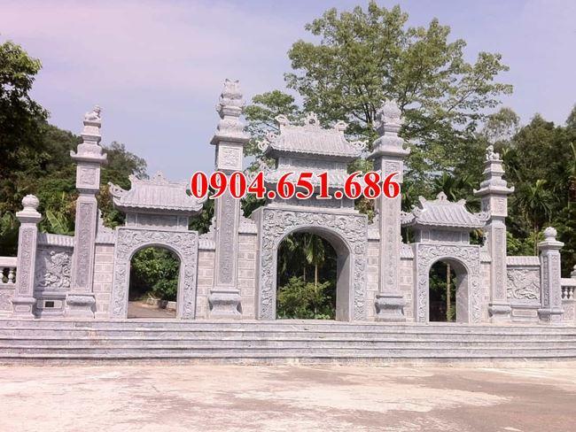 Mẫu cổng tam quan đá nhà thờ họ có gác