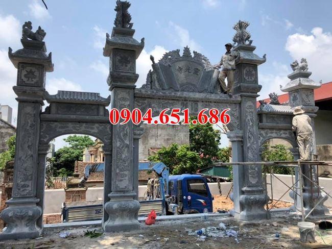 Mẫu cổng tam quan đá nhà thờ họ xây kích thước hợp phong thủy