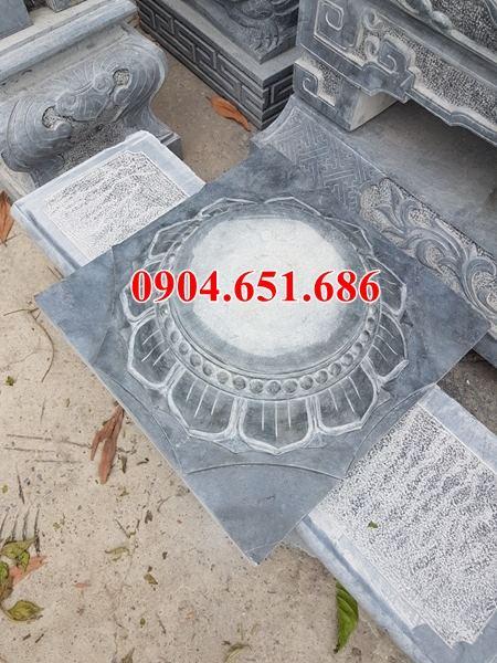 Mẫu chân tảng đá kê cột gỗ nhà thờ họ tại Bình Phước, Bình Dương