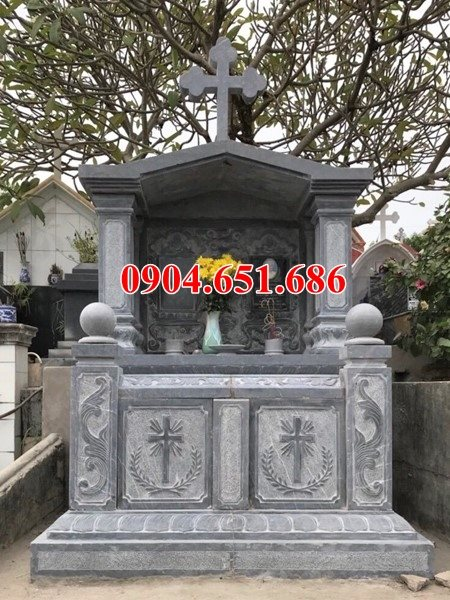 Mẫu mộ đôi đá đạo công giáo bán và lắp đặt tại các tỉnh tây nguyên