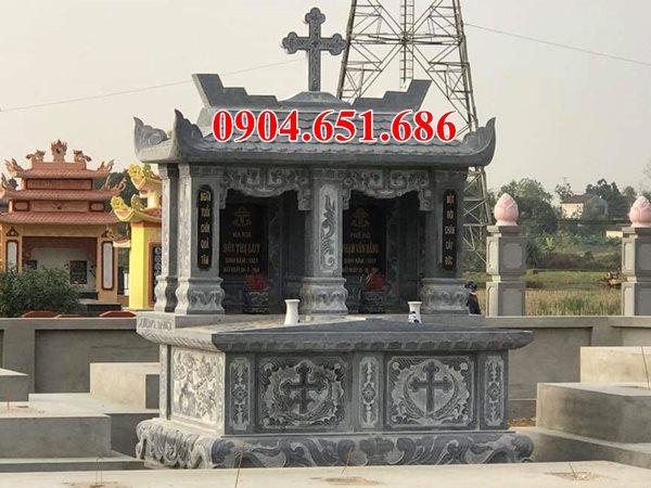 Mẫu mộ đôi đẹp chế tác tại sơ sở đá mỹ nghệ Ninh Bình bán toàn quốc