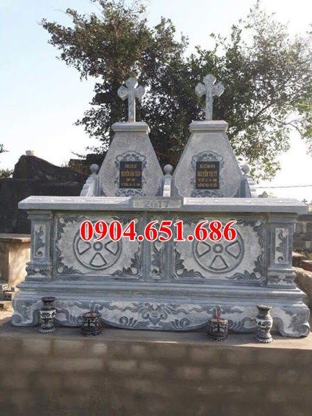 Mẫu mộ công giáo đôi đẹp bán và lắp đặt tại các tỉnh miền trung