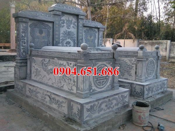 Mộ đôi bằng đá khối tự nhiên bán và lắp đặt tại các tỉnh miền Đà Nẵng và các tỉnh Miền Trung