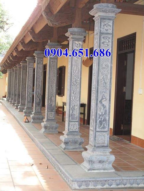 Cột hiên đá đình chùa – Báo giá cột hiên đá đình chùa, đền chùa