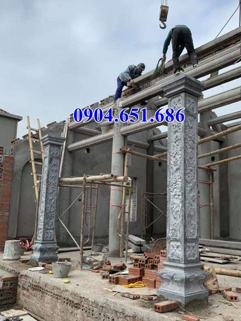 Giá cột đá khối tự nhiên - Giá cột tròn, giá cột vuông, giá cột đá nhà gỗ