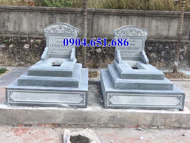 Giá mộ đá đôi xây sẵn để hài cốt
