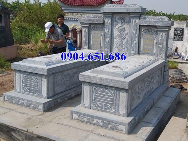 Giá mộ đôi đá kích thước chuẩn phong thủy