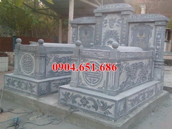 Kích thước mẫu mộ đôi bằng đá đẹp
