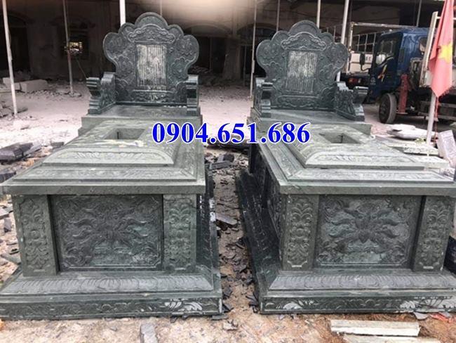 Kích thước mộ đôi đá xanh rêu đẹp chuẩn thước lỗ ban