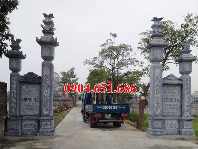 Mẫu cổng đá khối tự nhiên đẹp giá rẻ bán toàn quốc