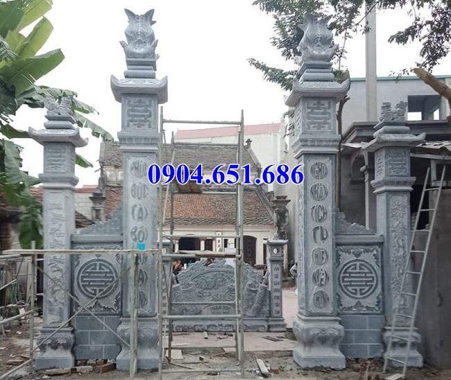 Mẫu cột đồng trụ làm cổng đá nhà thờ họ, nhà thờ tộc