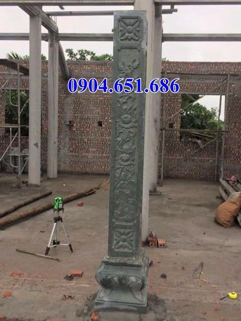 Mẫu cột bằng đá xanh rêu đẹp