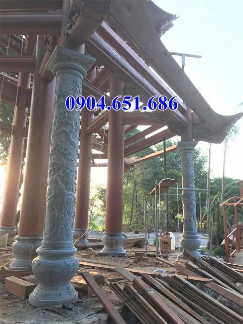 Mẫu cột tròn đẹp đá xanh Ninh Bình