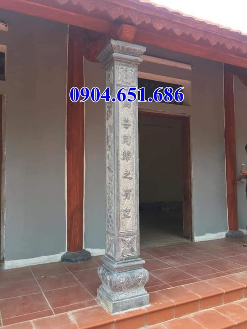Mẫu cột vuông đẹp đá xanh Thanh Hóa
