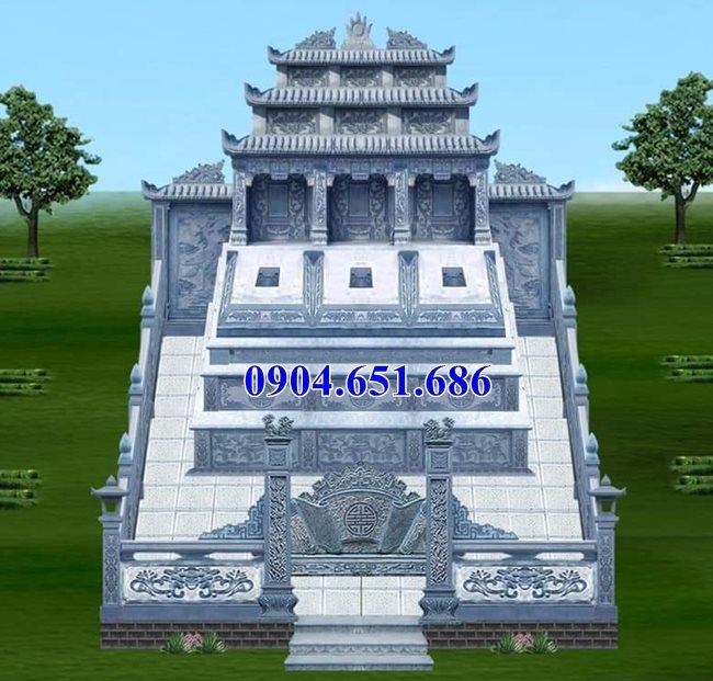 Mẫu lăng mộ đôi ba mái thiết kế đẹp kích thước hợp phong thủy
