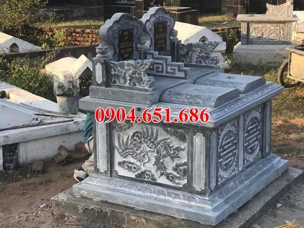 Mẫu mộ đá đôi tam sơn kích thước chuẩn phong thủy