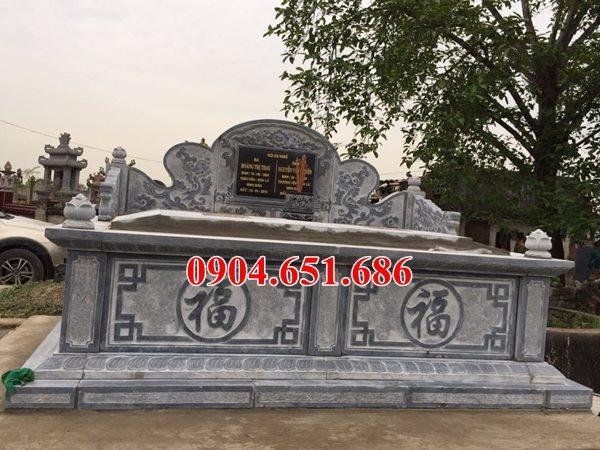 Mẫu mộ đôi đá bành, mộ đôi hậu bành thiết kế chuẩn phong thủy