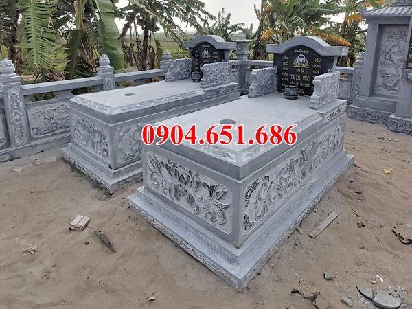 Mẫu mộ đôi bằng đá khối tự nhiên đẹp