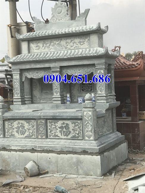 Mẫu mộ đôi hai mái kích thước chuẩn phong thủy