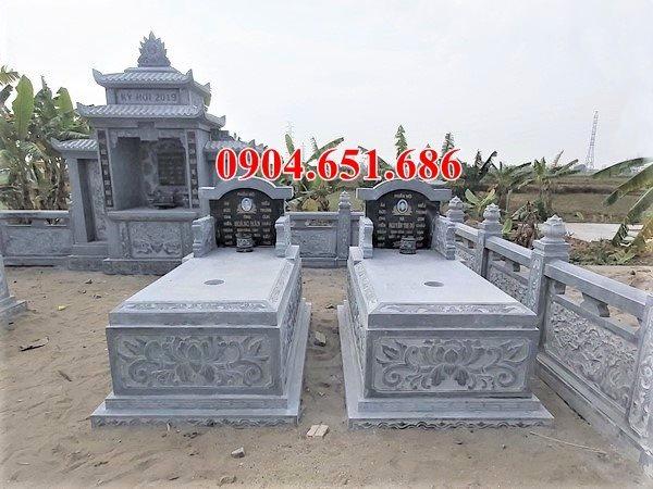 Mẫu mộ đôi không mái xây kích thước chuẩn phong thủy