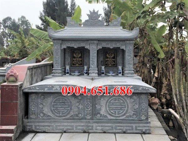 Mẫu mộ đôi một mái che đẹp hợp phong thủy