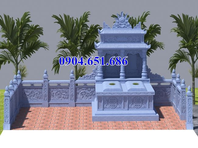 Mẫu mộ đôi thiết kế đẹp chuẩn phong thủy kích thước lỗ ban
