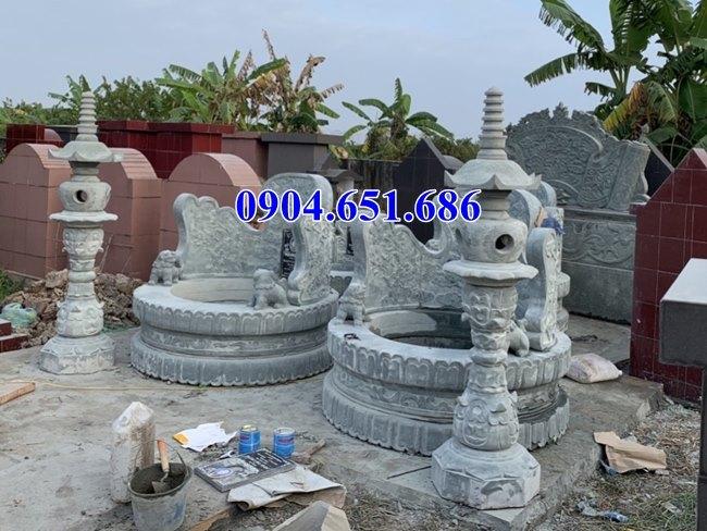 Mẫu mộ đôi tròn xây đẹp hiện đại