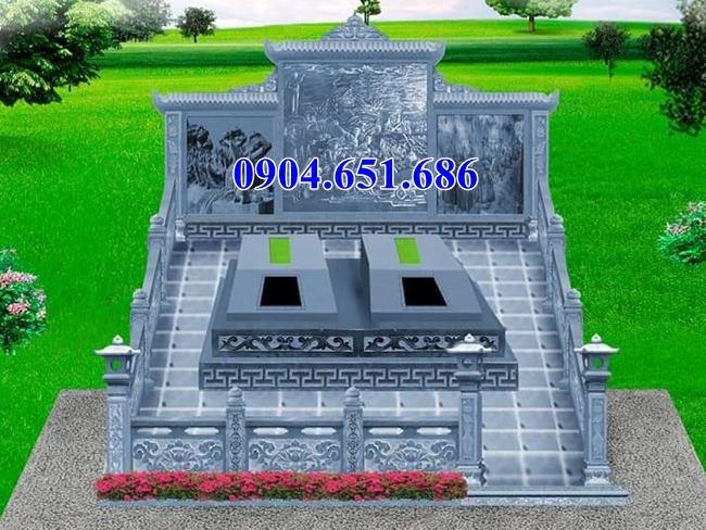 Mẫu thiết kế lăng mộ đôi đẹp hiên đại