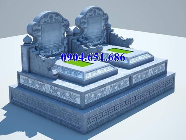 Mẫu thiết kế mộ đôi tam cấp đẹp
