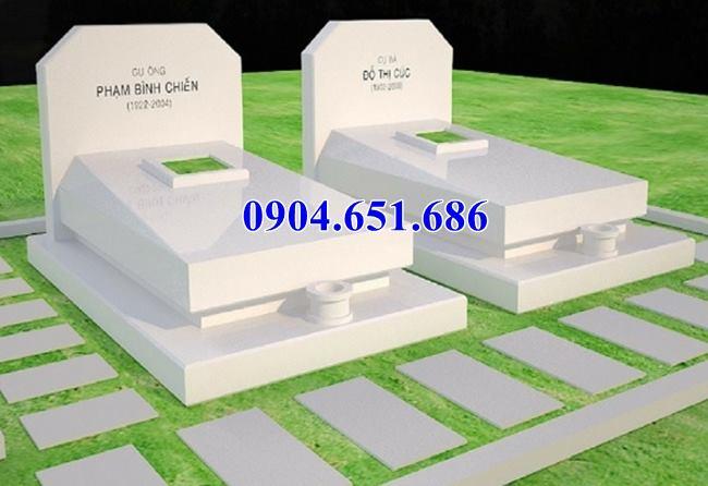Mẫu thiết kế mộ đôi tam sơn đẹp( mộ bành)