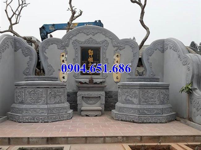 Xây mẫu mộ lục giác, mộ lục lăng bằng đá xanh tự nhiên đẹp