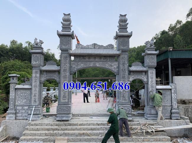 Địa chỉ làm cổng bằng đá khối tự nhiên