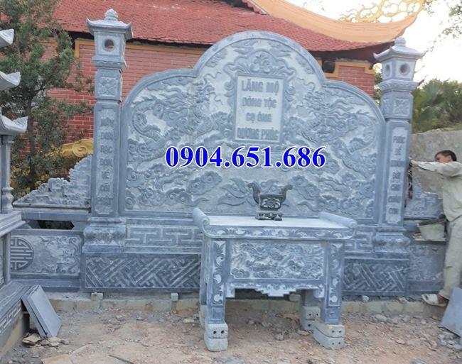 Giá bàn lễ đá tự nhiên đặt ở khu lăng mộ, nghĩa trang gia đình