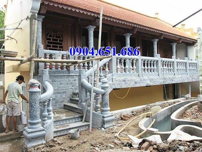 Giá lan can, hàng rào đình chùa, nhà thờ tộc bằng đá tự nhiên