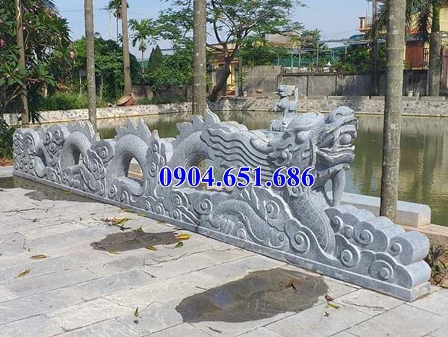 Hình ảnh mẫu rồng bậc thềm đá nhà thờ họ thiết kế hợp phong thủy