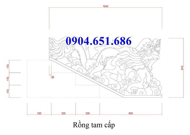 Hình ảnh mẫu thiết kế rồng đá bậc thềm đẹp