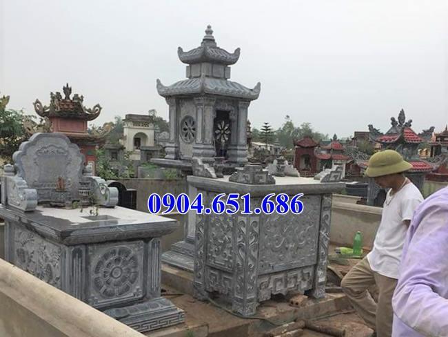 Mẫu bàn lễ đá đẹp đặt ở khu lăng mộ, nghĩa trang gia đình