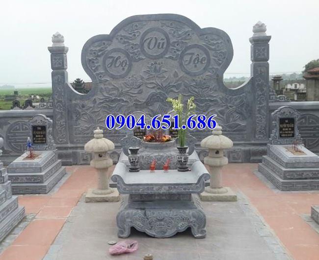 Mẫu bàn thờ đá lăng mộ thiết kế kích thước chuẩn phong thủy