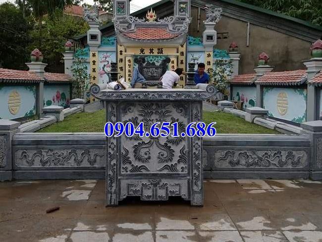 Mẫu bàn thờ đá nghĩa trang gia đình đẹp giá rẻ
