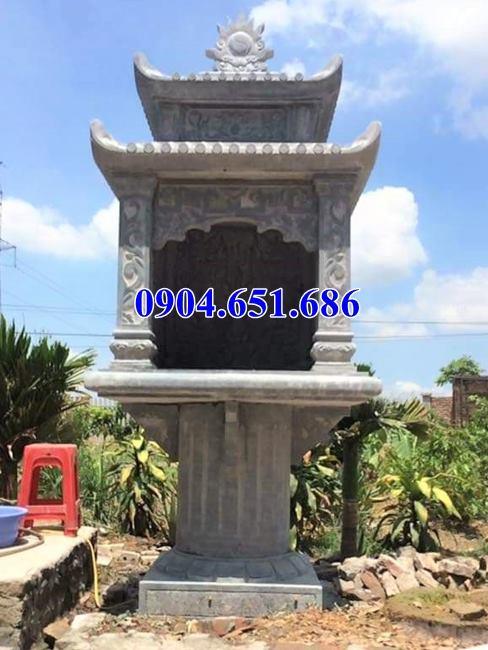 Mẫu bàn thờ thiên đá, cây hương đá có mái che