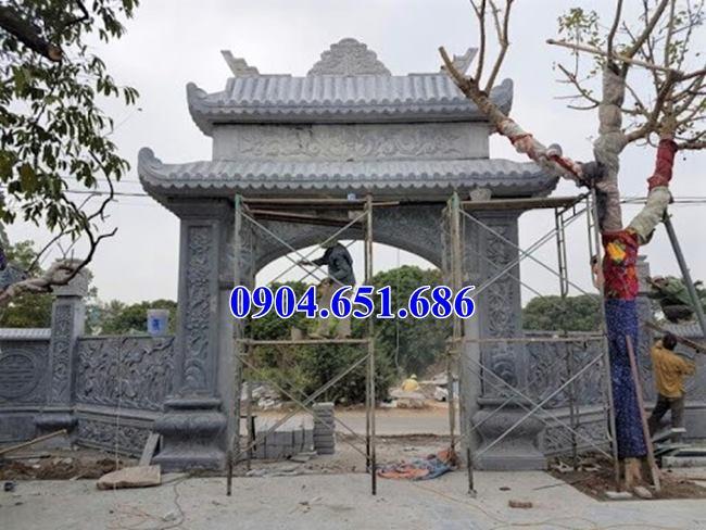 Mẫu cổng đá đẹp nhà thờ họ kích thước chuẩn phong thủy