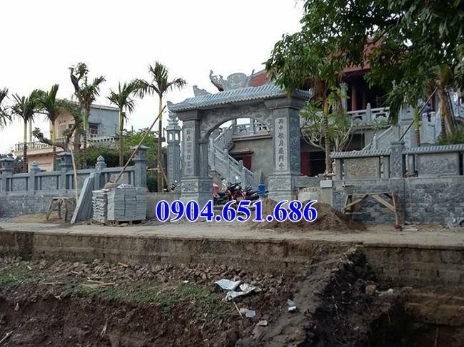 Mẫu cổng nhà thờ họ thiết kế xây bằng đá khối tự nhiên đẹp bán và lắp đặt tại các tỉnh thành