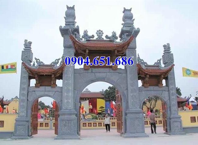 Mẫu cổng tam quan bằng đá đẹp bán và lắp đặt toàn quốc
