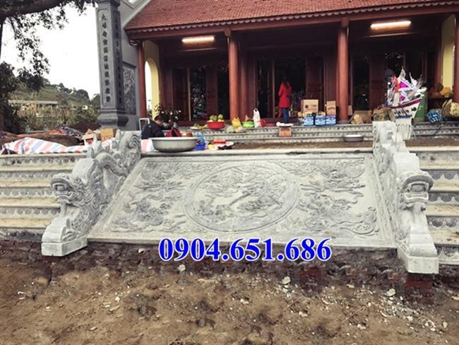 Mẫu chiếu rồng đá đình chùa, chiếu rồng đá đền chùa hoa văn tinh xảo