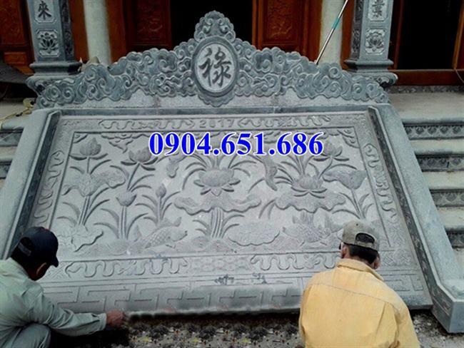 Mẫu chiếu rồng nhà thờ họ đá xanh Thanh Hóa thiết kế đơn giản đẹp